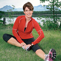 Sarah Palin image by Brian Adams from the August 2009 issue of Runner's World